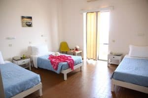 Voorbeeld van een kamer in het Triton Garden Beach Hotel 300x200 Vroegboekkorting All inclusive vakantie Kreta 8 dagen 3 *** hotel voor maar € 284,  p.p. (vertrek in mei 2020)