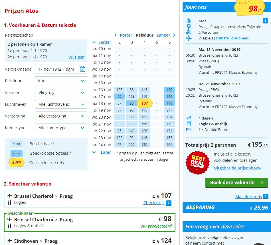 aanbiedingen goedkoopste Citytrips Praag Aanbiedingen goedkope 4 daagse CityTrips Praag, ****Hotels, vanaf € 97.
