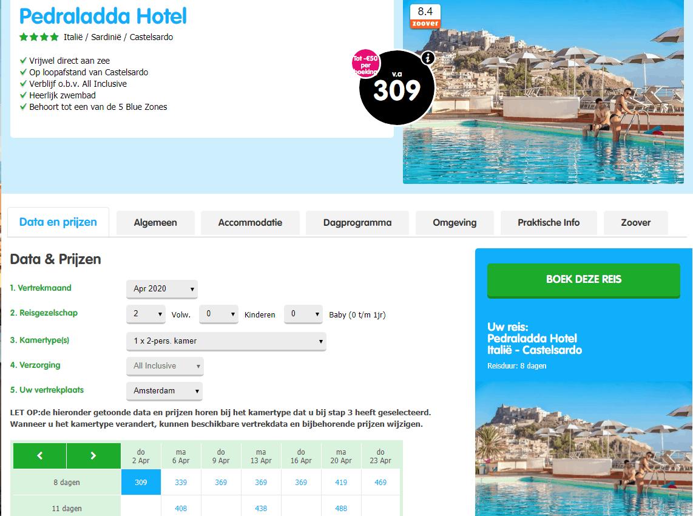 aanbiedingen goedkoopste all inclusive vliegvakanties Sardinië 2020 1 Aanbiedingen goedkope 8 daagse All Inclusive vliegvakanties Sardinië, ****Hotels, vanaf € 309.