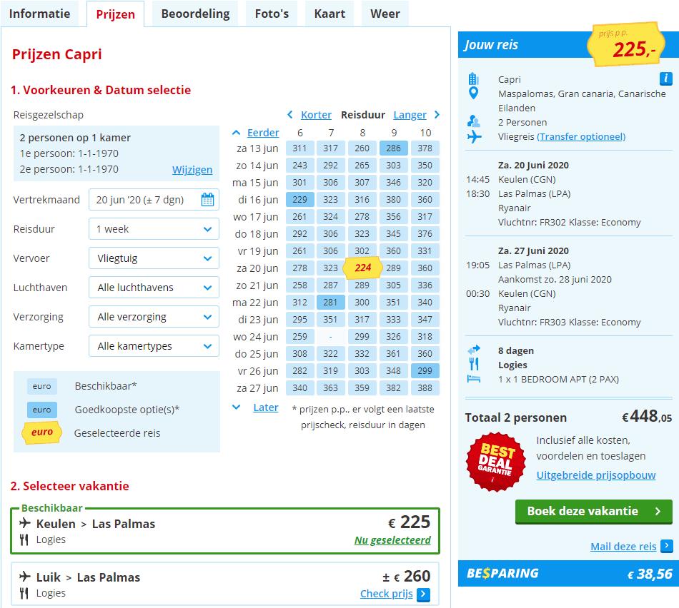 aanbiedingen goedkoopste vliegvakanties Canarische Eilanden 2020 Aanbiedingen vliegvakanties Canarische Eilanden, vanaf € 225.