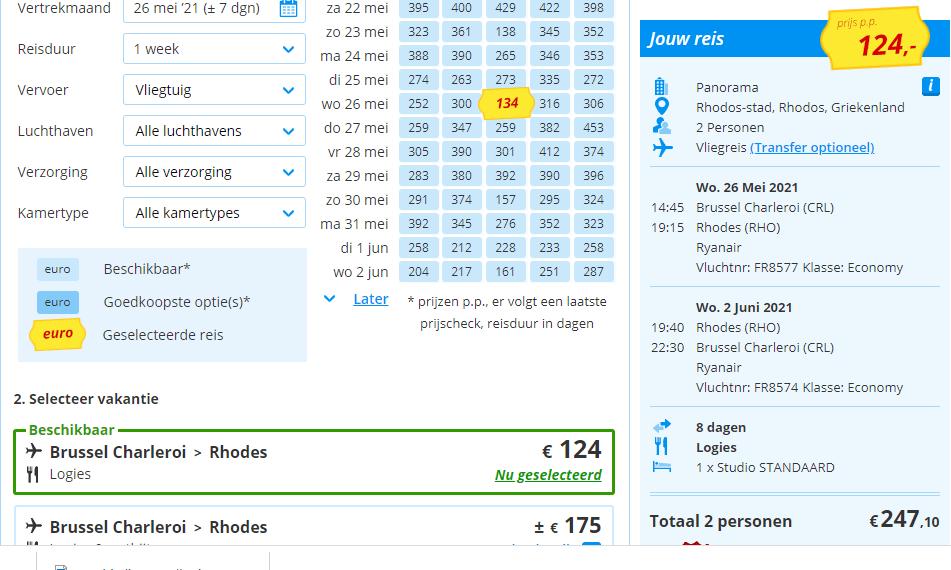 aanbiedingen goedkoopste vliegvakanties Griekenland 2021 Aanbiedingen vliegvakanties Griekenland, vanaf € 124.