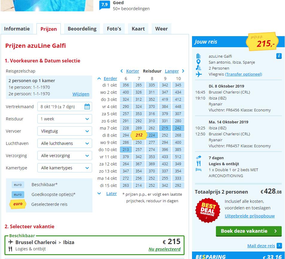 aanbiedingen goedkoopste vliegvakanties Ibiza Aanbiedingen goedkope vliegvakanties Ibiza, 7 dagen, vanaf € 225.