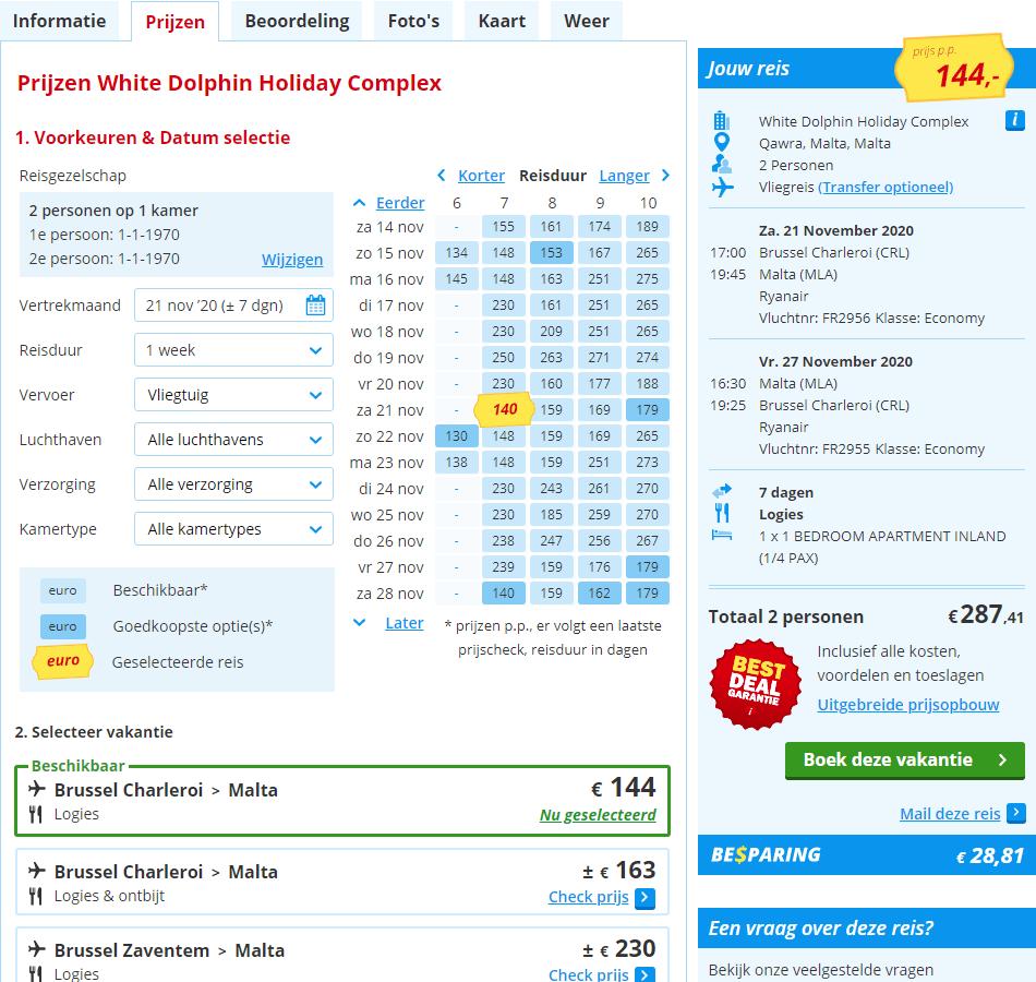 aanbiedingen goedkoopste vliegvakanties Malta 2020 2 Aanbiedingen goedkope 7 daagse vliegvakanties Malta, vanaf € 144.