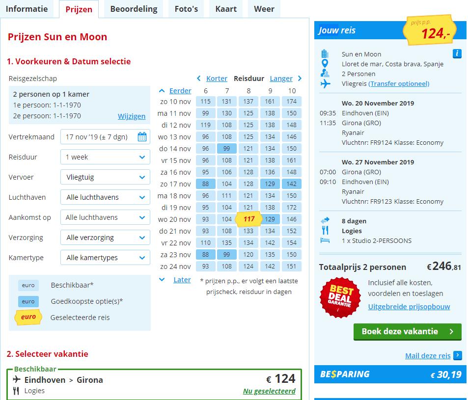 aanbiedingen goedkoopste vliegvakanties Spanje 2019 en 2020 Aanbiedingen Vliegreizen Spanje, 8 dagen, vanaf € 124.