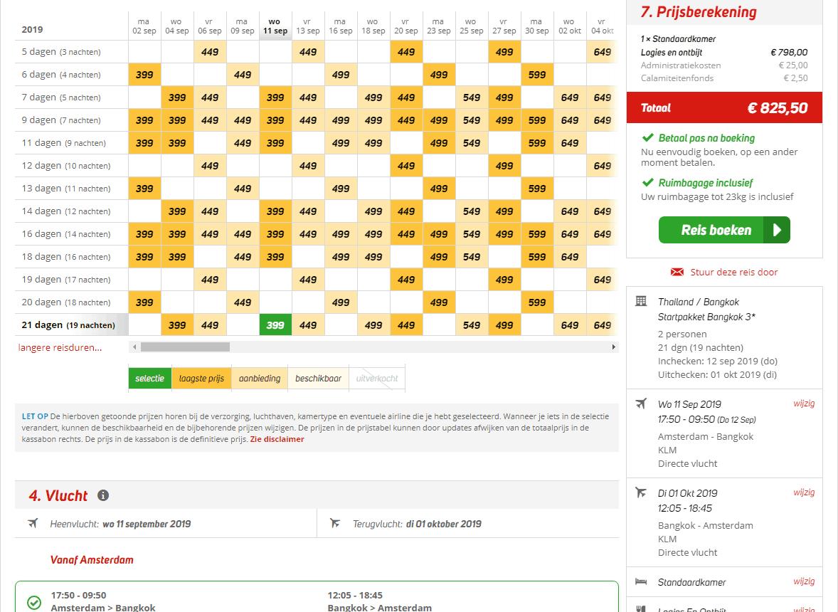 aanbiedingen goedkoopste vliegvakanties Thailand Aanbieding goedkope 21 daagse vliegvakantie Thailand, vanaf € 399.