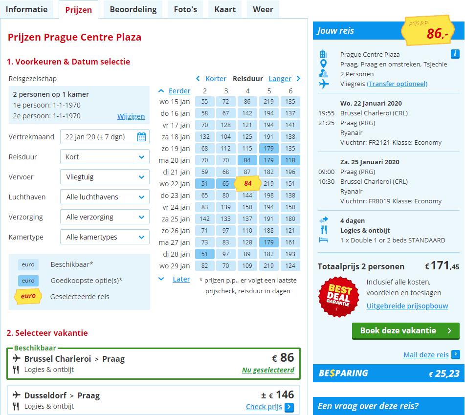 aanbiedingen goedkope Citytrips Praag inclusief vlucht Aanbiedingen goedkope 4 daagse CityTrips Praag, ****Hotels, vanaf € 86.