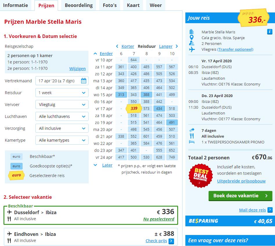 aanbiedingen goedkope all inclusive vliegvakanties Ibiza 2020 Goedkope All Inclusive vakantie: 7 dagen Ibiza vanaf € 379.