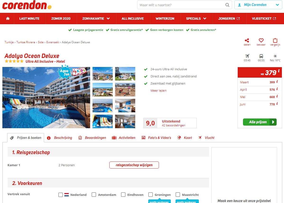 aanbiedingen goedkope ultra all inclusive vliegvakanties Turkije Side 2020 Aanbieding, 8 daagse Ultra All Inclusive vliegvakantie Turkije, Side, vanaf € 379.  *****Hotel