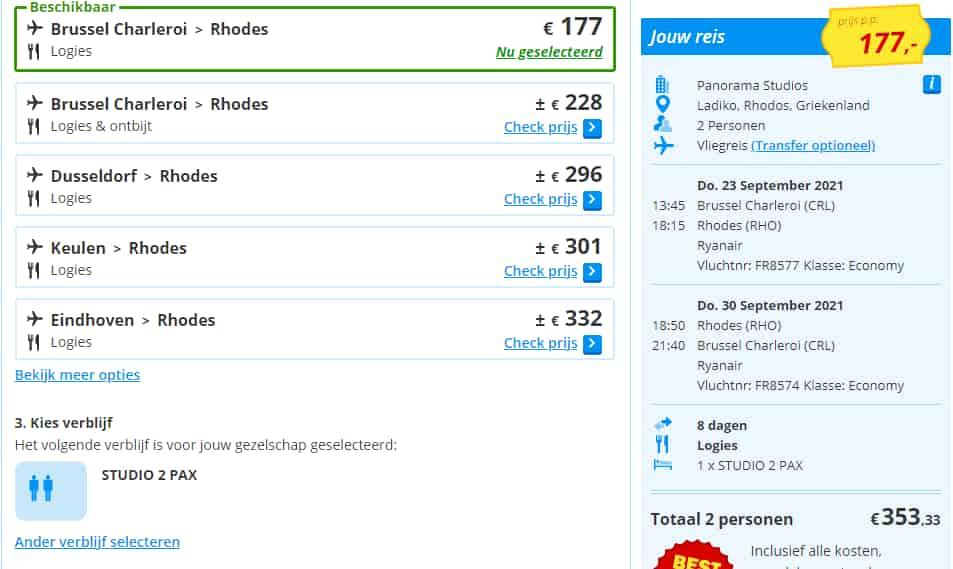 aanbiedingen goedkope vliegvakanties Rhodos Faliraki Anthony Quin baai 2021 Aanbieding vliegvakantie Rhodos, Faliraki, vlakbij Anthony Quinn Bay, 8 dagen vanaf € 177.