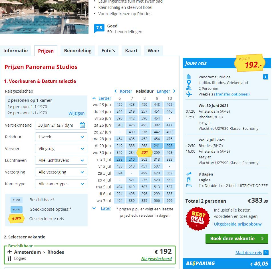 aanbiedingen goedkope vliegvakanties Rhodos Faliraki Anthony Quin baai 2021 Aanbieding vliegvakantie Rhodos, Faliraki, vlakbij Anthony Quinn Bay, 8 dagen vanaf € 133.
