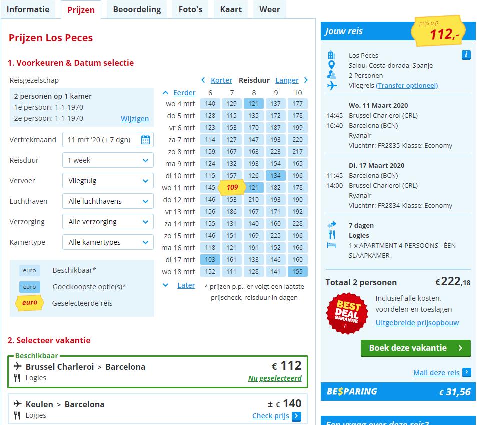aanbiedingen goedkope vliegvakanties Spanje 2020 2 Aanbiedingen Vliegreizen Spanje, 7 of 8 dagen, vanaf € 133.
