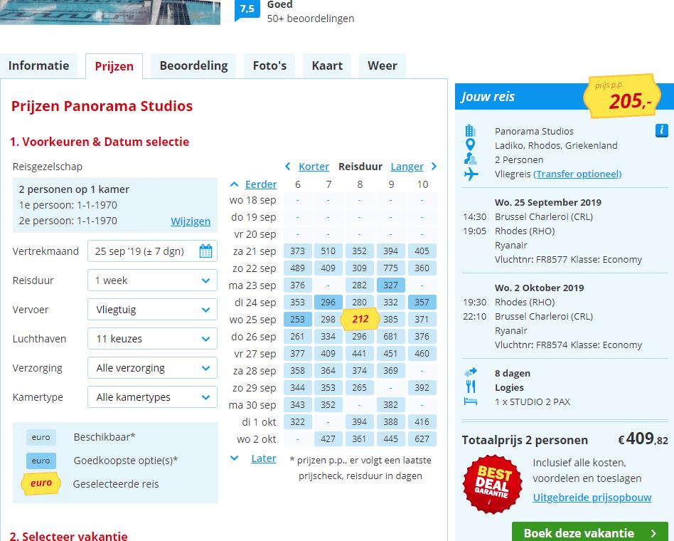 goedkoopste lastminute aanbiedingen vliegvakanties Faliraki Rhodos Aanbieding Last Minute vliegvakantie Rhodos, Faliraki, vlakbij Anthony Quinn Bay, 8 dagen vanaf € 256.