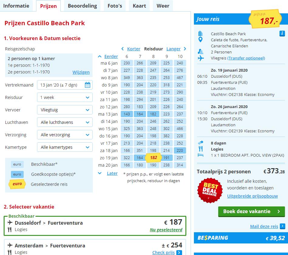 goedkoopste vliegvakantie aanbiedingen Canarische Eilanden 2019 en 2020 Aanbiedingen vliegvakanties Canarische Eilanden, vanaf € 187.