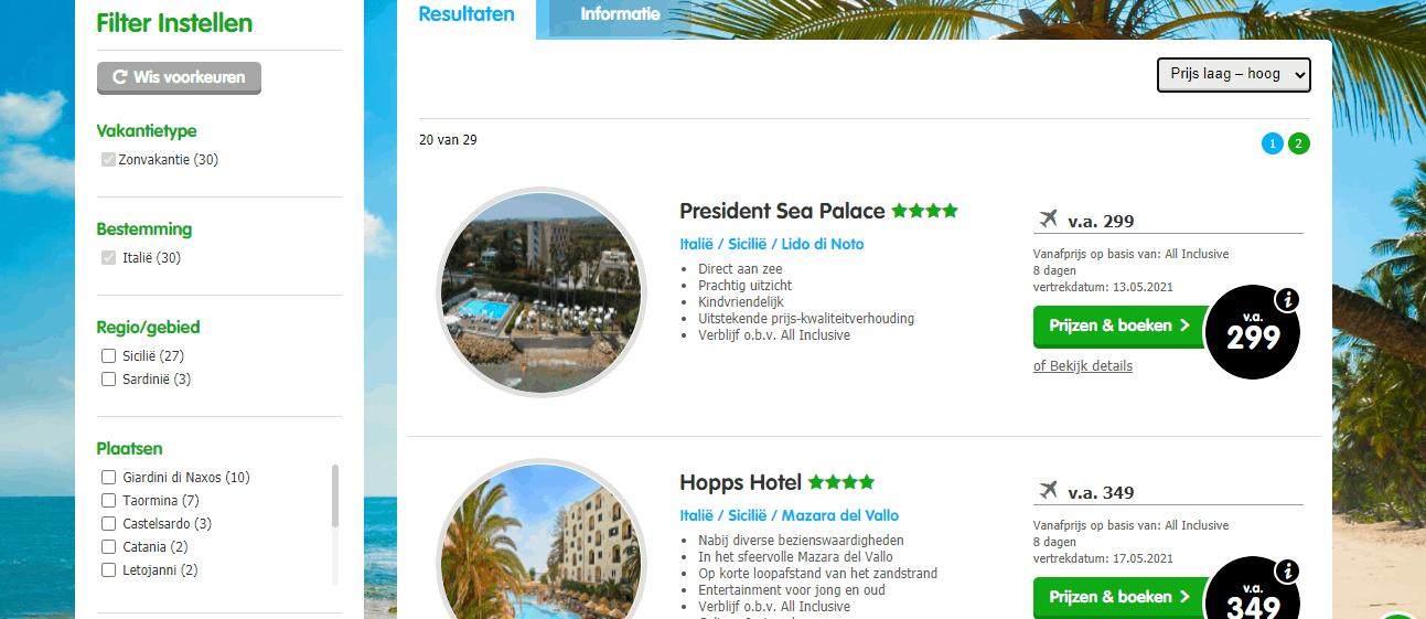 goedkope all inclusive vliegvakanties Sicilie hotels aan zee Aanbiedingen goedkope 8 daagse All Inclusive vliegvakanties Sicilië, ****Hotel, direct aan zee, vanaf € 299.